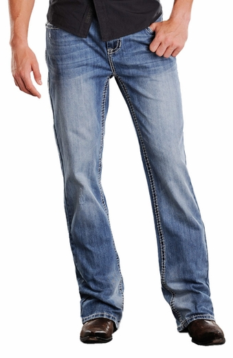 Rock & Roll Cowboy Double Barrel Relaxed Fit Boot Cut Jeans (Closeout)