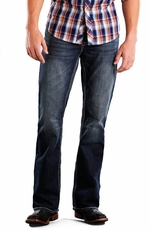 Rock & Roll Cowboy Double Barrel Relaxed Fit Boot Cut Jeans - Medium Wash