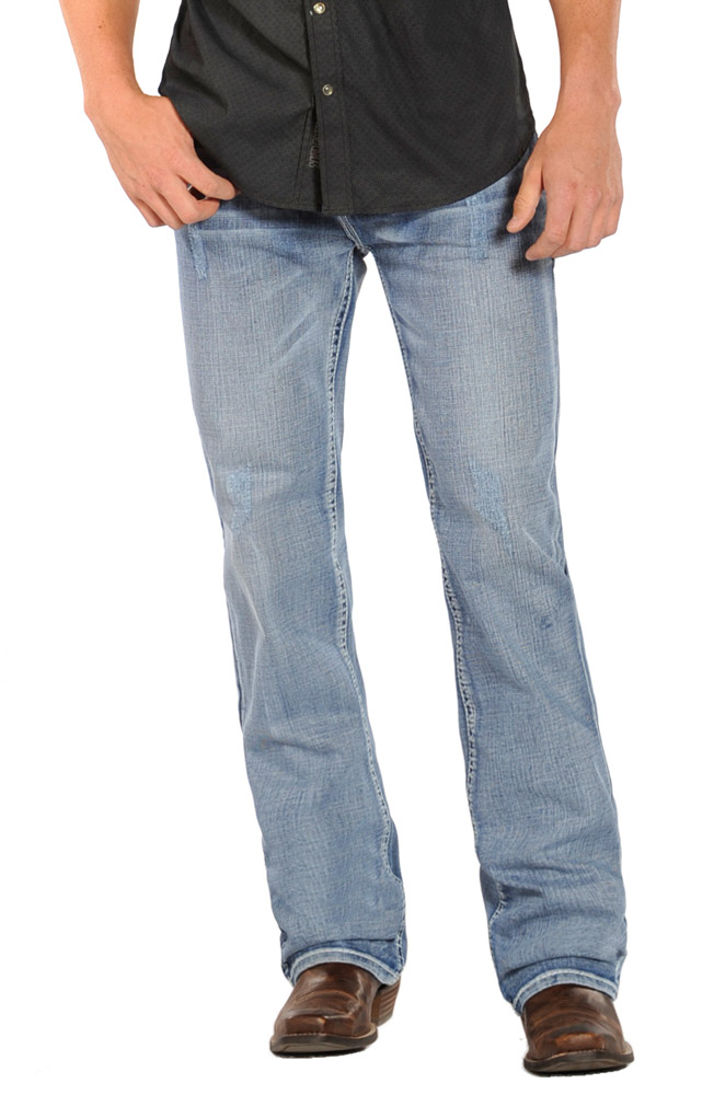 Rock & Roll Cowboy Double Barrel Relaxed Fit Straight Leg Jeans (Closeout)