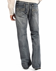 Rock & Roll Cowboy Men's Cannon Fit Straight Leg Jeans - Light Wash (Closeout)