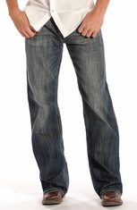 Rock & Roll Cowboy Men's Cannon Loose Fit Straight Leg Jeans (Closeout)