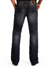 Rock & Roll Cowboy Men's Double Barrel Low Rise Relaxed Fit Straight Leg Jeans - Dark Vintage