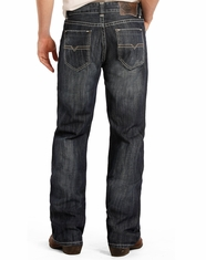 Rock & Roll Cowboy Men's Double Barrel Low Rise Relaxed Fit Straight Leg Jeans - Dark Wash