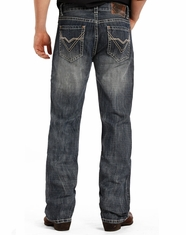 Rock & Roll Cowboy Men's Double Barrel Low Rise Relaxed Fit Straight Leg Jeans - Medium Vintage