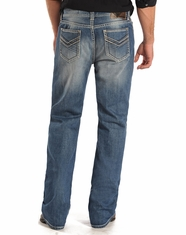 Rock & Roll Cowboy Men's Double Barrel Low Rise Relaxed Fit Straight Leg Jeans - Medium Wash