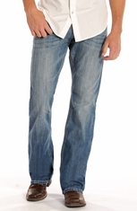 Rock & Roll Cowboy Men's Double Barrel Relaxed Fit Boot Cut Jeans