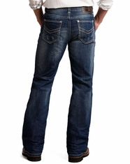 Rock & Roll Cowboy Men's Double Barrel Relaxed Fit Boot Cut Jeans - Dark Wash