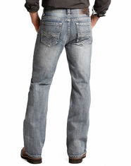Rock & Roll Cowboy Men's Double Barrel Relaxed Fit Boot Cut Jeans - Light Wash (Closeout)