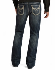 Rock & Roll Cowboy Men's Double Barrel Relaxed Fit Boot Cut Jeans - Medium Vintage (Closeout)