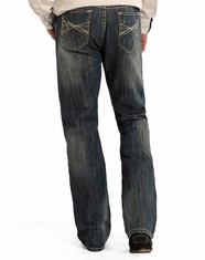 Rock & Roll Cowboy Men's Double Barrel Relaxed Fit Boot Cut Jeans - Medium Wash