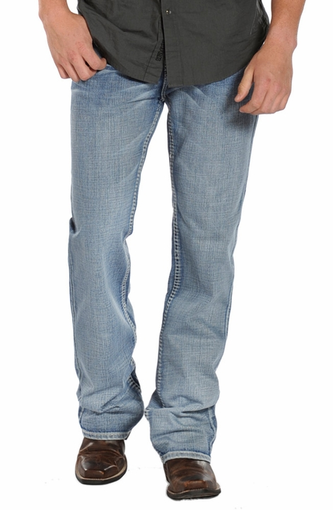 Rock & Roll Cowboy Men's Double Barrel Relaxed Fit Boot Cut Jeans - Medium Wash (Closeout)