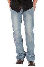 Rock & Roll Cowboy Men's Double Barrel Relaxed Fit - Light Wash