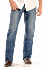 Rock & Roll Cowboy Men's Double Barrel Relaxed Fit Straight Leg Jeans