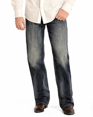Rock & Roll Cowboy Men's Double Barrel Relaxed Fit Straight Leg Jeans - Dark Vintage (Closeout)