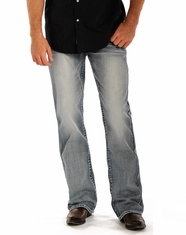 Rock & Roll Cowboy Men's Double Barrel Relaxed Fit Straight Leg Jeans - Light Vintage (Closeout)