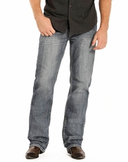 Rock & Roll Cowboy Men's Double Barrel Relaxed Fit Straight Leg Jeans - Medium Vintage (Closeout)