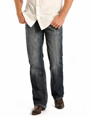 Rock & Roll Cowboy Men's Double Barrel Straight Leg Jeans - Dark Wash