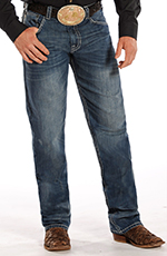 Rock & Roll Cowboy Men's Double Tuf Cooper Competiton Fit Straight Leg Jeans