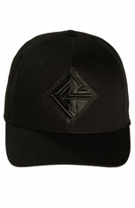 Rock & Roll Cowboy Men's Logo Cap - Black (Closeout)