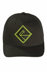 Rock & Roll Cowboy Men's Logo Cap - Green/Black (Closeout)