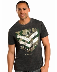 Rock & Roll Cowboy Men's Logo Tee Shirt - Charcoal (Closeout)