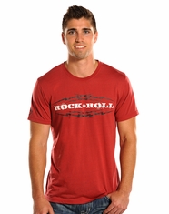 Rock & Roll Cowboy Men's Logo Tee Shirt - Red (Closeout)