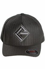 Rock & Roll Cowboy Men's Pinstripe Flexfit Cap - Black