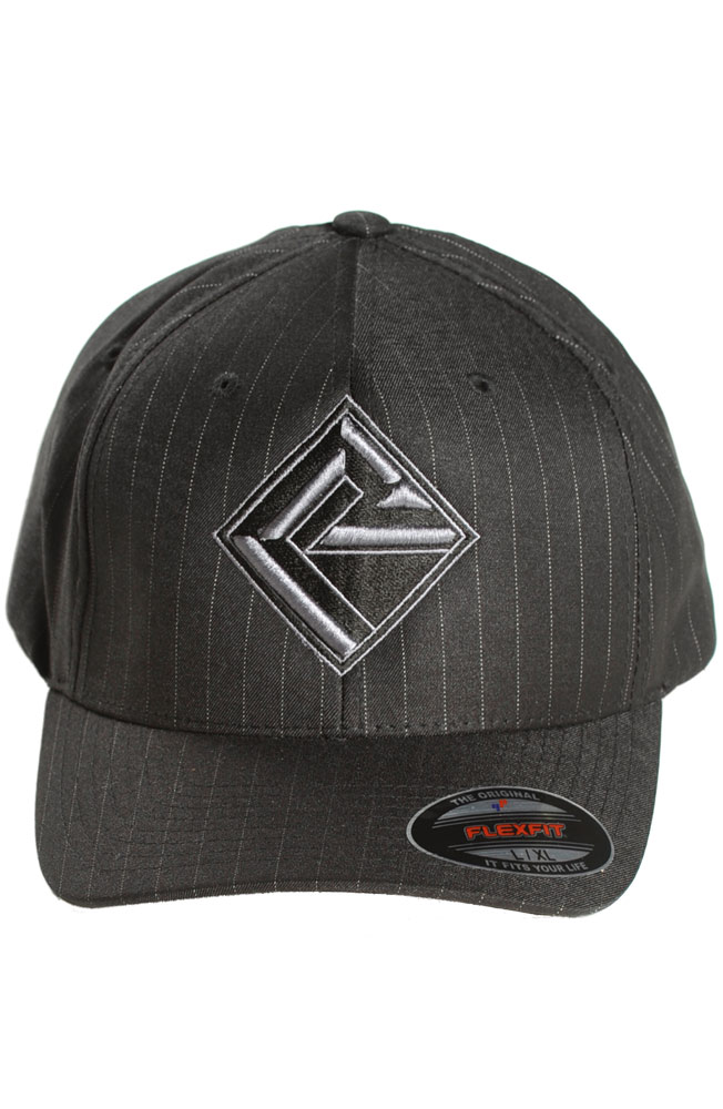 Rock & Roll Cowboy Men's Pinstripe Flexfit Cap - Black (Closeout)