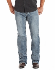 Rock & Roll Cowboy Men's Pistol Fit Straight Leg Jeans - Light Wash (Closeout)