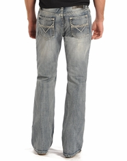 Rock & Roll Cowboy Men's Pistol Low Rise Regular Fit Boot Cut Jeans - Light Wash