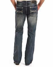 Rock & Roll Cowboy Men's Pistol Low Rise Regular Fit Boot Cut Jeans - Medium Vintage