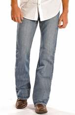 Rock & Roll Cowboy Men's Pistol Regular Fit Boot Cut Jeans (Closeout)