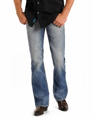 Rock & Roll Cowboy Men's Pistol Regular Fit Boot Cut Jeans - Light Wash (Closeout)
