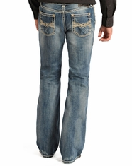 Rock & Roll Cowboy Men's Pistol Regular Fit Jeans - Light Vintage Wash (Closeout)