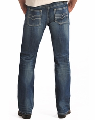 Rock & Roll Cowboy Men's Pistol Regular Fit Straight Leg Jeans-Dark Vintage (Closeout)