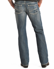 Rock & Roll Cowboy Men's Pistol Regular Fit Straight Leg Jeans-Light Vintage (Closeout)