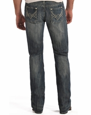 Rock & Roll Cowboy Men's Pistol Regular Fit Straight Leg Jeans-Medium Vintage (Closeout)