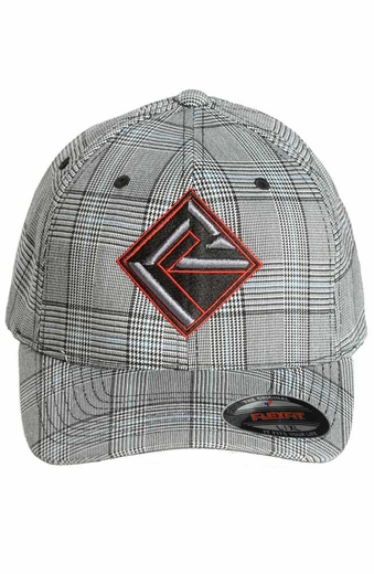 Rock & Roll Cowboy Men's Plaid Cap - Grey (Closeout)