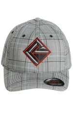 Rock & Roll Cowboy Men's Plaid Cap - Grey