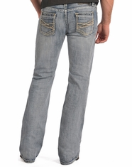 Rock & Roll Cowboy Men's Regular Fit Boot Cut Jeans-Light Wash