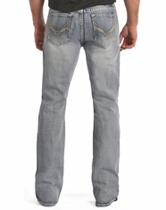 Rock & Roll Cowboy Men's Relaxed Fit Boot Cut Jeans-Light Vintage