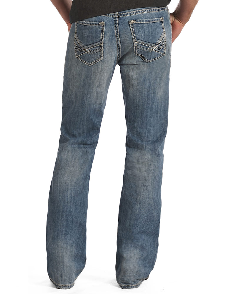 Rock &amp Roll Cowboy Men&39s Relaxed Fit Boot Cut Jeans-Vintage Wash