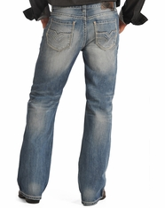 Rock & Roll Cowboy Men's Relaxed Fit Boot Cut Jeans-Vintage Wash