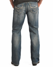 Rock & Roll Cowboy Men's Relaxed Fit Straight Leg Jeans-Medium Vintage