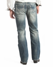 Rock & Roll Cowboy Men's Relaxed Fit Straight Leg Jeans-Medium Wash