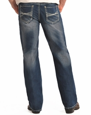 Rock & Roll Cowboy Men's Relaxed Fit Straight Leg Jeans-Vintage Wash