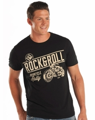 Rock & Roll Cowboy Men's Short Sleeve Logo Print T-Shirt - Black