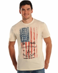 Rock & Roll Cowboy Men's Short Sleeve Logo T-Shirt - Natural