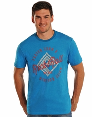 Rock & Roll Cowboy Men's Short Sleeve Logo T-Shirt - Turquoise (Closeout)