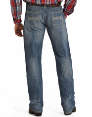 Rock & Roll Cowboy Men's Tuf Cooper Competition Fit Straight Leg Jeans-Medium Wash (Closeout)
